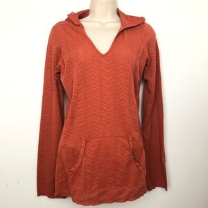 Parana orange hoodie top size large With pocket
